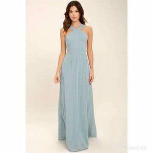 Lulus Air of Romance Lined Bridesmaid Maxi Dress